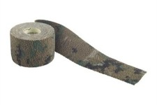 Us a non-adhesive gun wrap such as Camo Form to protect your survival rifle.