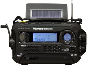 Kaito Voyager Pro KA600 Digital Solar-Dynamo AM-FM-LW-SW-NOAA Weather Emergency Radio with Alert n RD