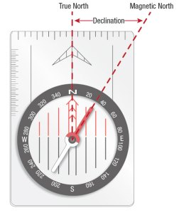 Declination-Compass-Map